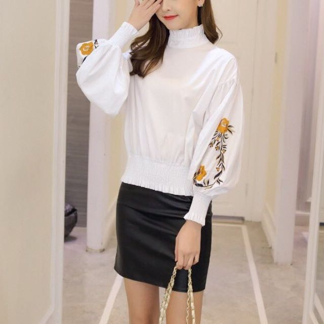 White Embroidery Blouse