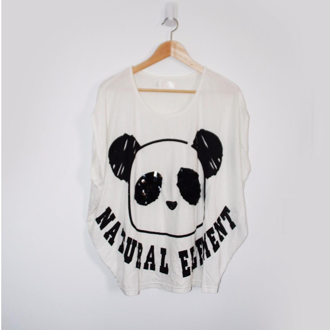 White Panda Tshirt Size AU 10