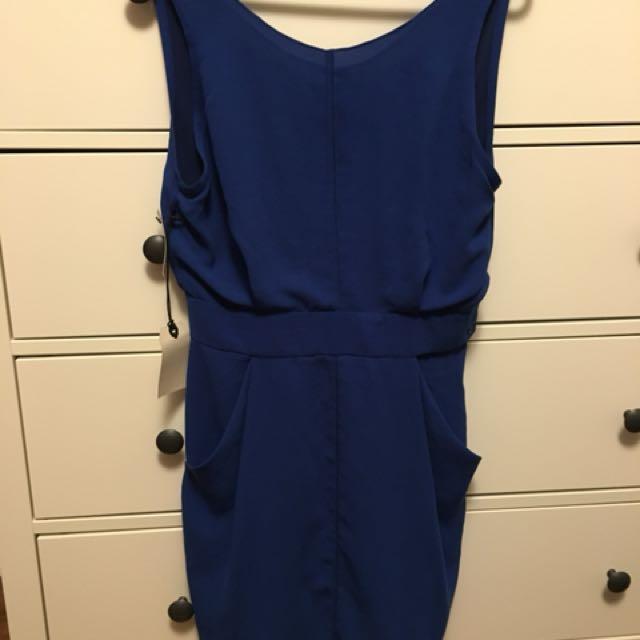 Wilfred colbalt blue dress