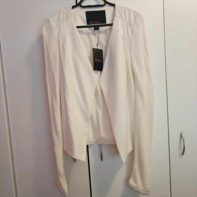 Wish Jacket White Size 10