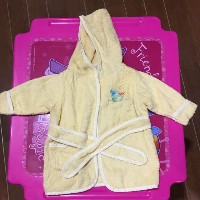 Yellow Baby Bathrobe