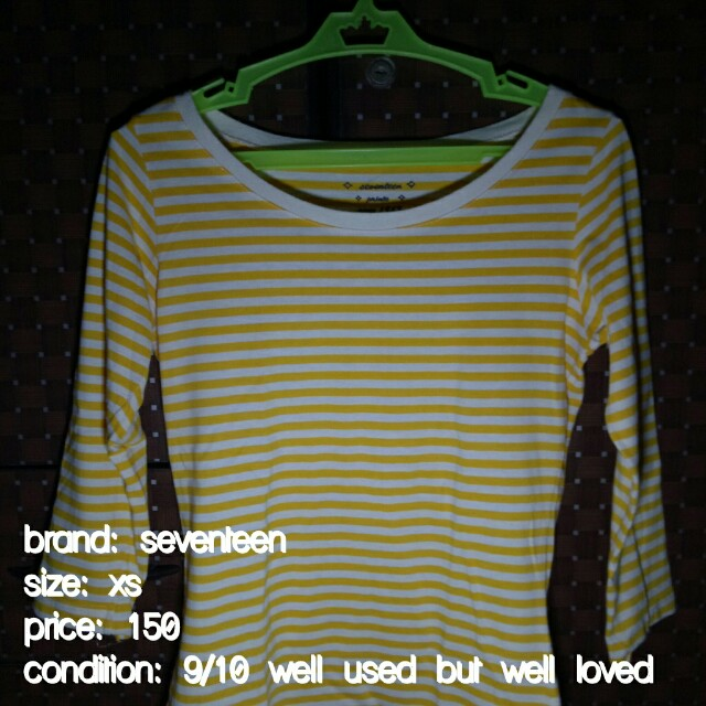 Yellow stripe 3/4s top