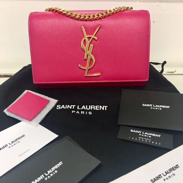 YSL Saint Laurent Kate Monogram Small GHW
