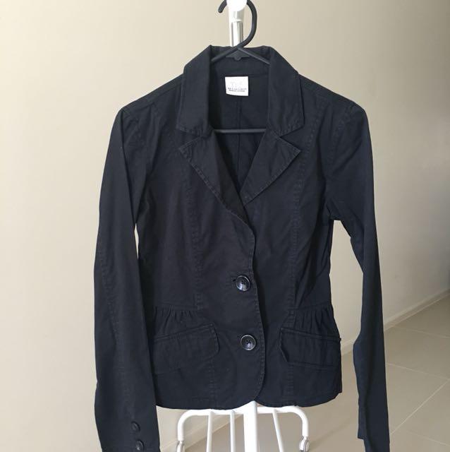 Zara TRF Black Blazer Size S