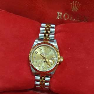 ✔👍💯% Authentic Rolex Lady Oyster Perpetual Datejust Watch