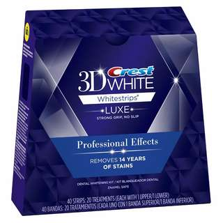 Instocks Authentic Crest 3D White Luxe Whitestrips Professional Effects