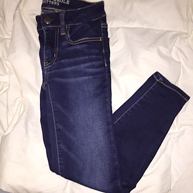 00 AE dark wash crop denim