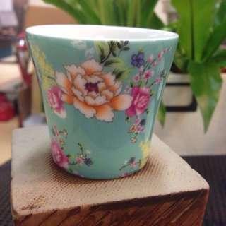 🚚 陶瓷茶杯 電花方式 直徑7.5高3.5公分