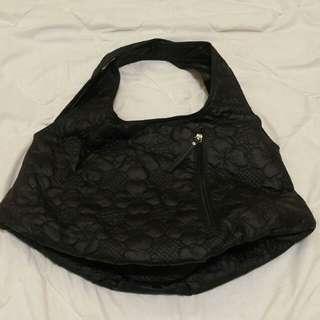 黑色花大袋