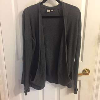 Simons Knit Dark Grey Cardigan size M
