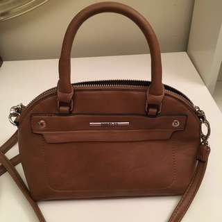 Roots tan faux leather small crossbody purse