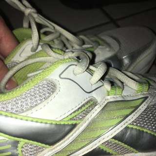 Reebok green and white sparkly running shoes/runners/sneakers, girls, size 4.5, size 5, size 6