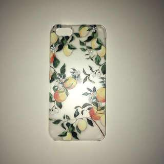Casetify iPhone 5/5s/SE case📱clear with lemons, hard plastic snap on