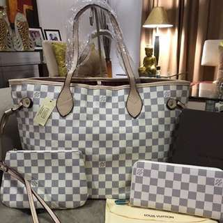 LV inspired Neverfull set (3in1)