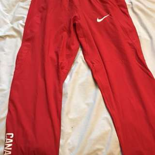 SELLING RED NIKE TRACK PANTS!
