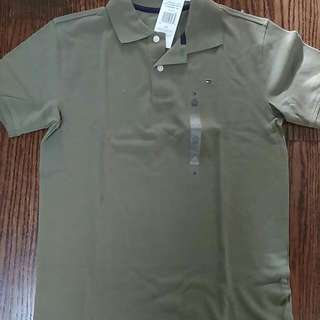 BNWT Tommy Hilfiger polo olive color size large