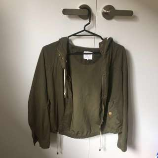 Khaki crop jacket