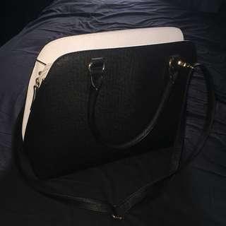 ALDO Black and White Tote bag