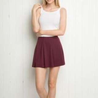 NWT Brandy Melville jacy burgundy skirt