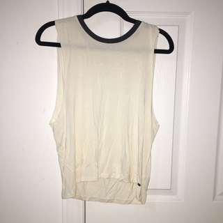 off white cream soft muscle tank