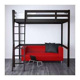 IKEA STORA double loft bed and mattress