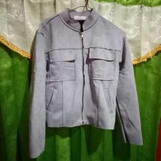 Jaket suede grey