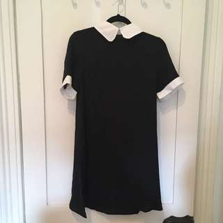 Black and white Claudine dress