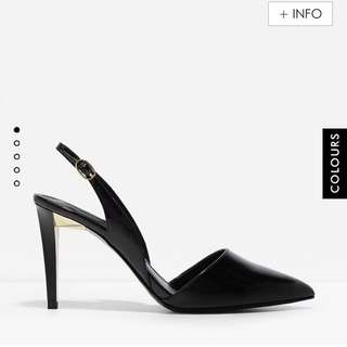 NEW CHARLES & KEITH Pointed Slingback Heels EU39