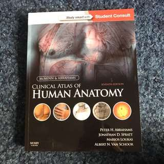 Clinical Atlas of Human Anatomy Mcminn &a Abrahams 7th edition