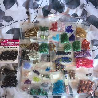 Assorted decorative beads