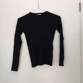 XS Black Cashmere Sweater