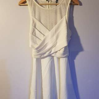 BRAND NEW ROSEBULLET white dress size 12