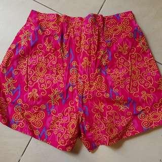 Batik short sz xs