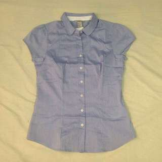 H&M Blue Office Top (US 8) *Repriced