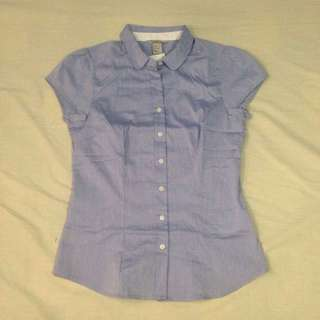 H&M Blue Office Top (US 6) *Repriced