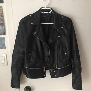 Zara faux leather jacket size m perfect condition