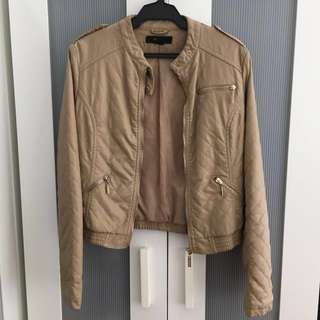Forever 21 beige leather jacket