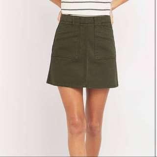 BDG Utility A-line Mini Skirt