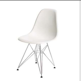 4 White Dining Chairs