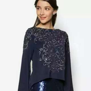 Sold / Zalia Embroidered Swing Top