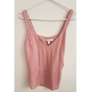 Forever New Blush Pink Silky Top Size 6
