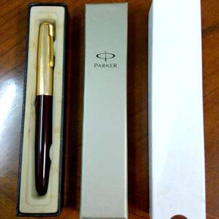 Maroon Parker 51 Fountain Pen