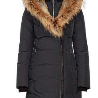 Mackage TRISH LONG WINTER DOWN COAT WITH FUR HOOD IN INK