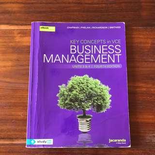 VCE business management 3&4