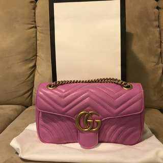 Authentic Gucci Marmont Matelasse shoulder bag