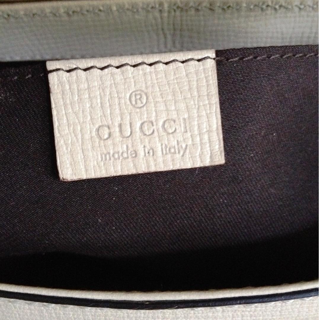 100% GUCCI Beige Leather Horsebit Gold Chain Clutch Bag retail US$2500 plus