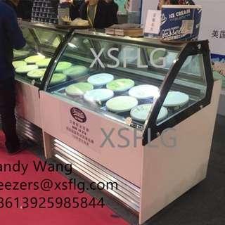 Gelato ice cream showcase