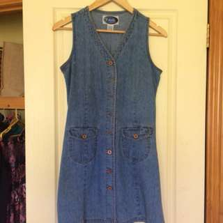Vintage denim dress size small