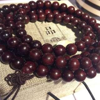 Rosewood bracelet. 108 beads