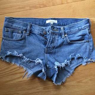 Talula Low Rise Denim Shorts